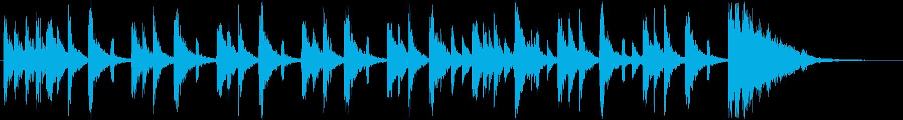 怪しげな雰囲気のシンセポップスの再生済みの波形