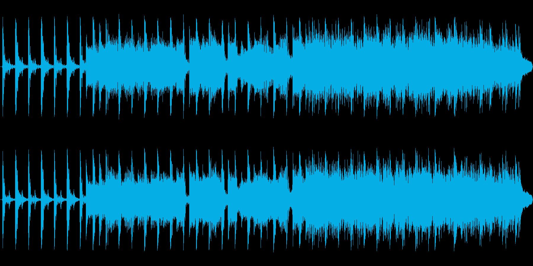 アップテンポの情熱・青春系、弾け系の曲の再生済みの波形