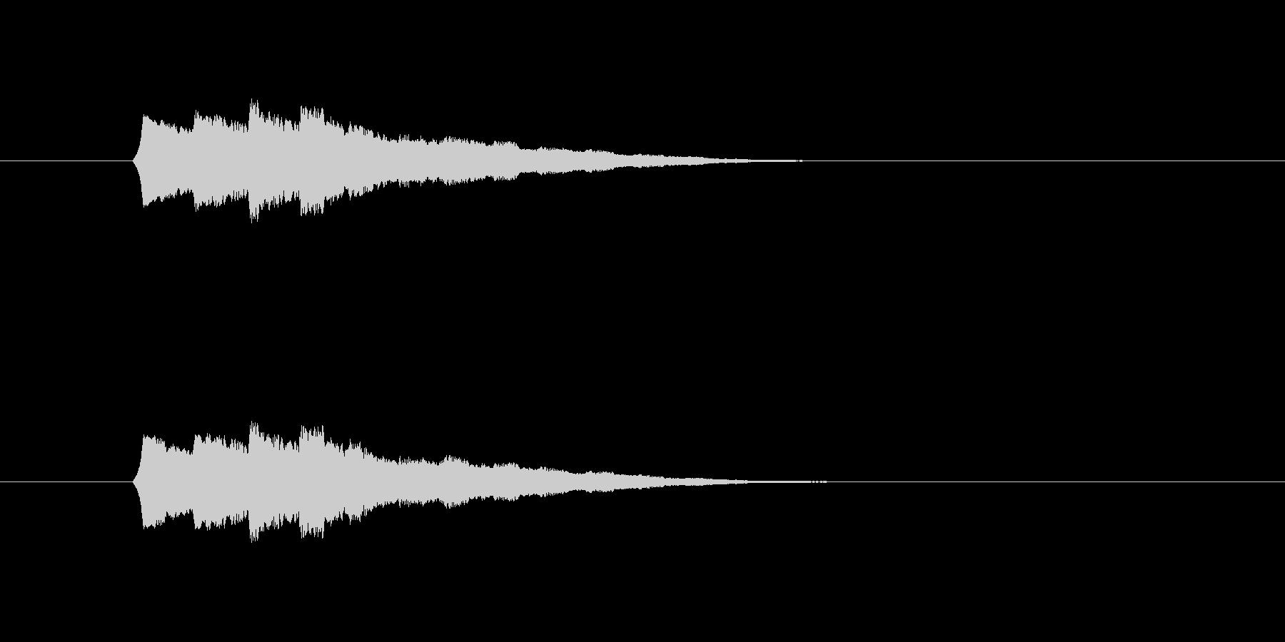操作系SEの未再生の波形