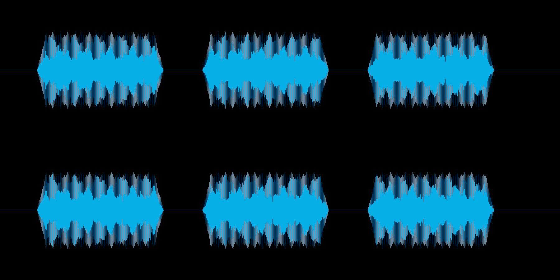 【汎用・セリフ音等】ピピピ(さらに低)の再生済みの波形