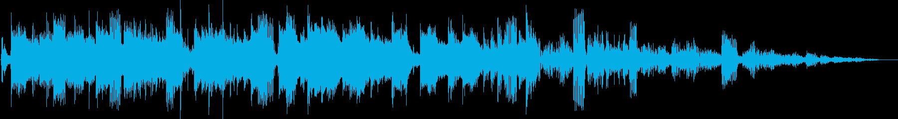 レトロなシンセ全開なテクノポップの再生済みの波形