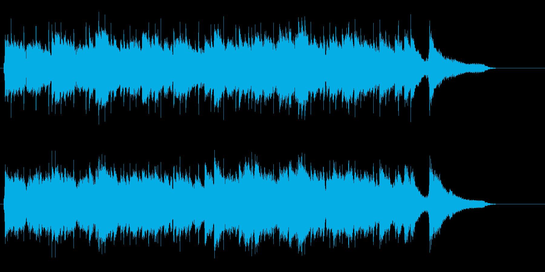 ハーモニカをフィーチャーしたカントリー調の再生済みの波形