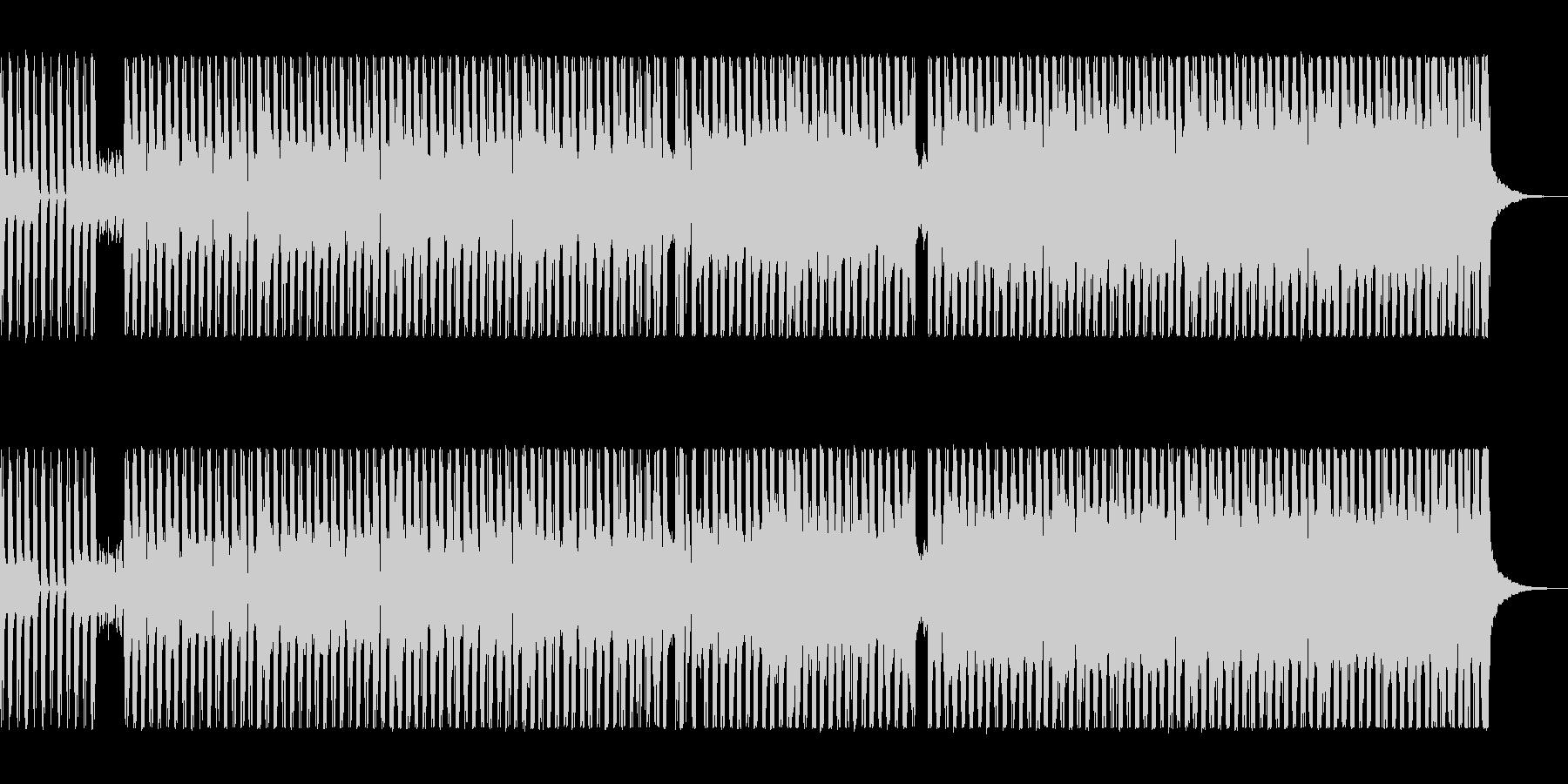 シンセとスラップベースの80sロックの未再生の波形