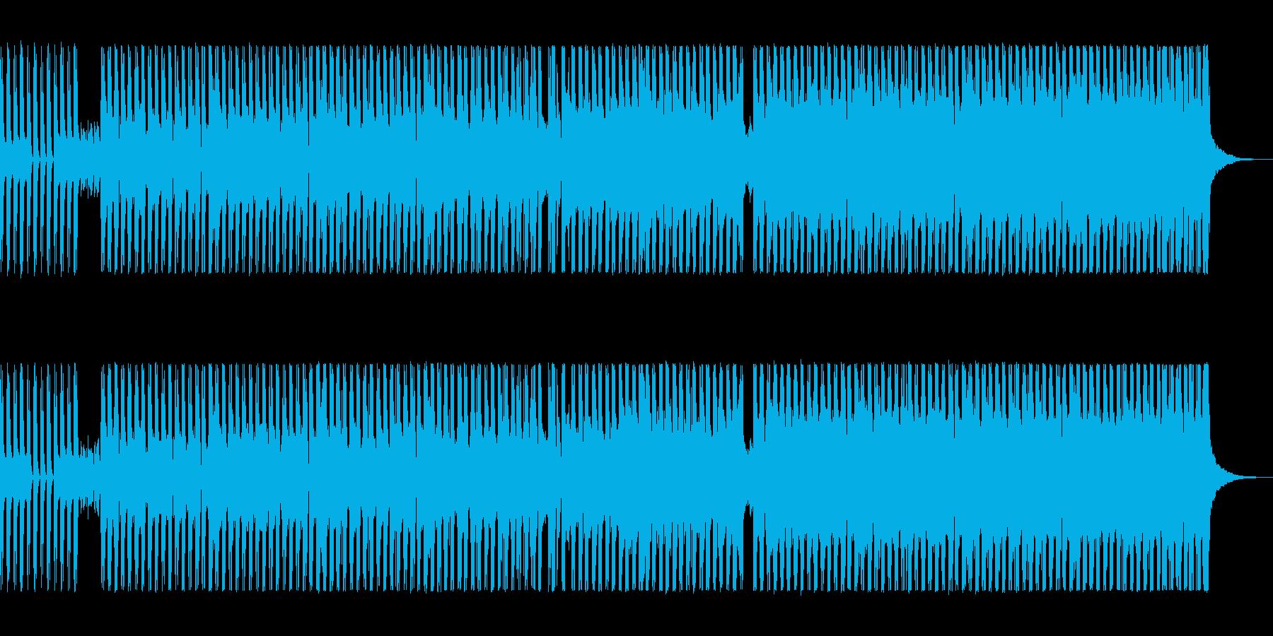 シンセとスラップベースの80sロックの再生済みの波形