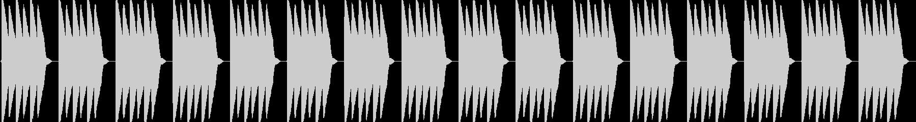 ピロピロピロ(電子目覚まし時計のアラー…の未再生の波形