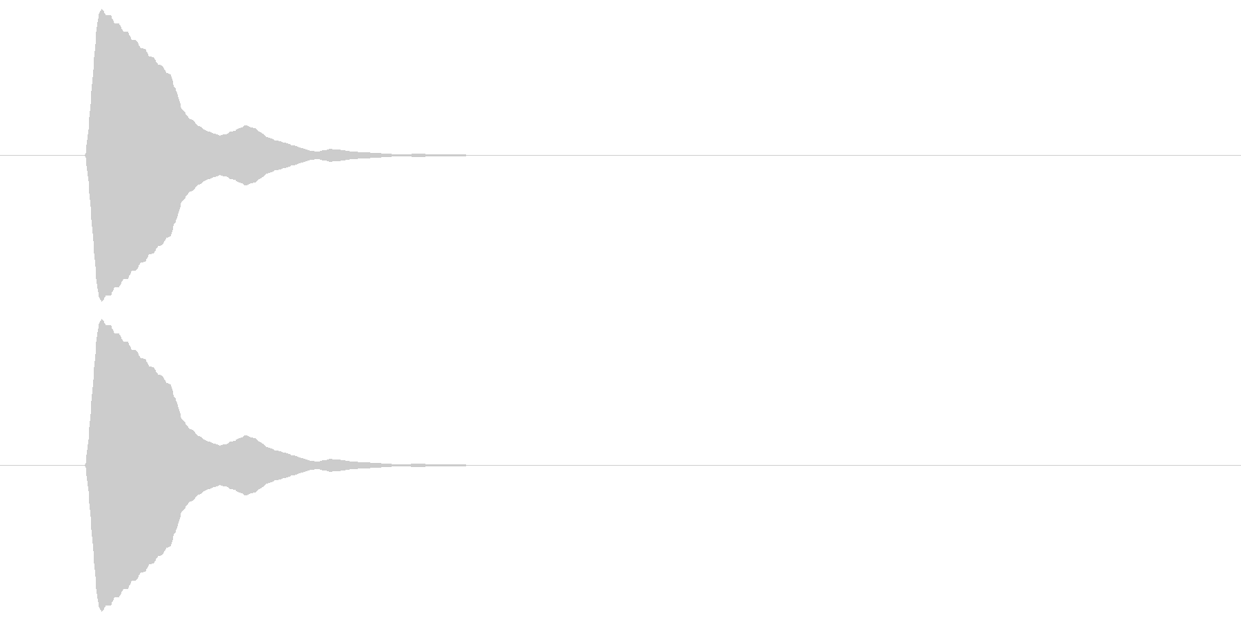 ピッ(カーソル、操作音) 01の未再生の波形
