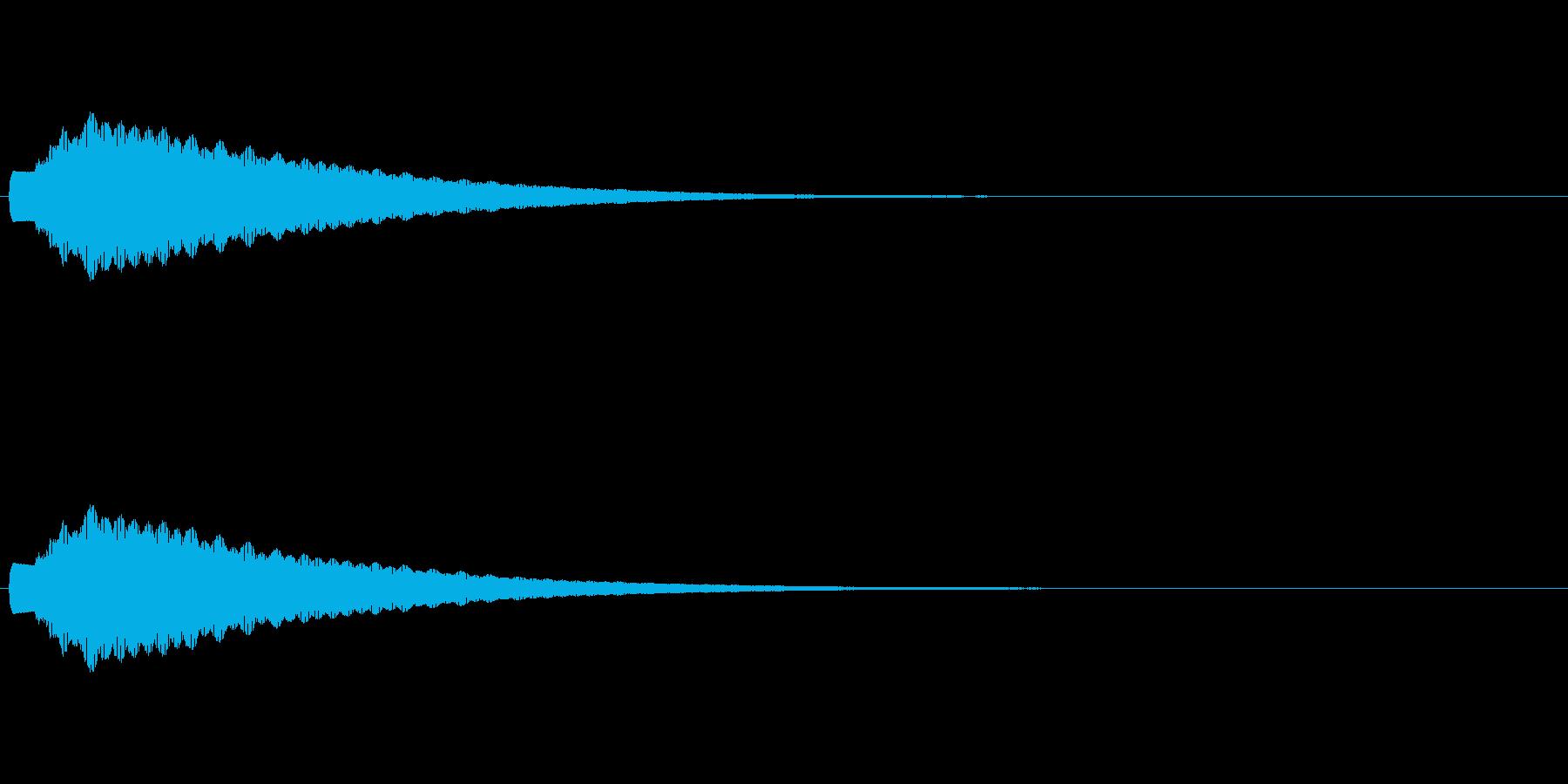 チャリーン・コイン・ひらめきの再生済みの波形