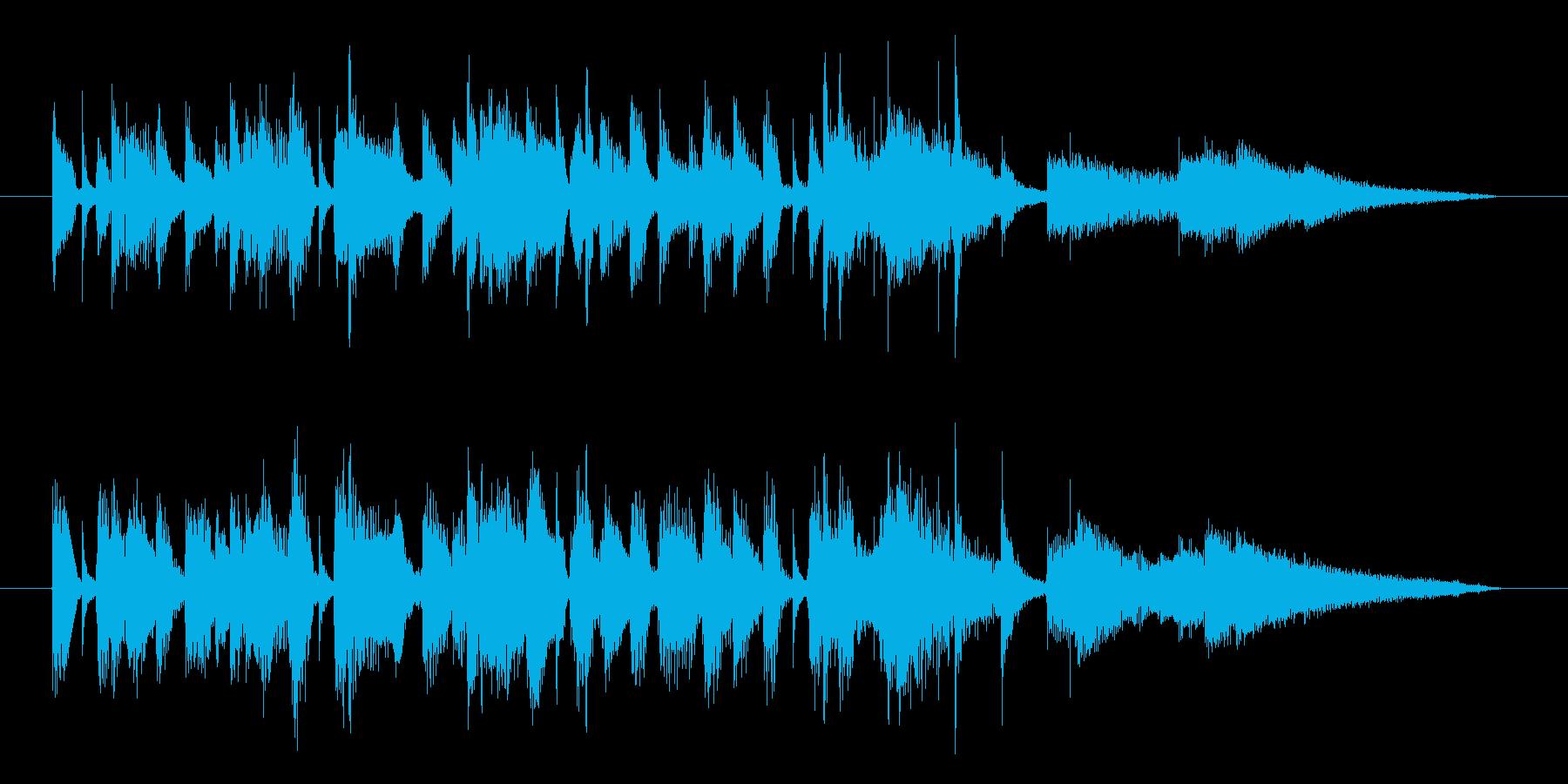 夏の海・リゾートのジャズサンバ・15秒版の再生済みの波形