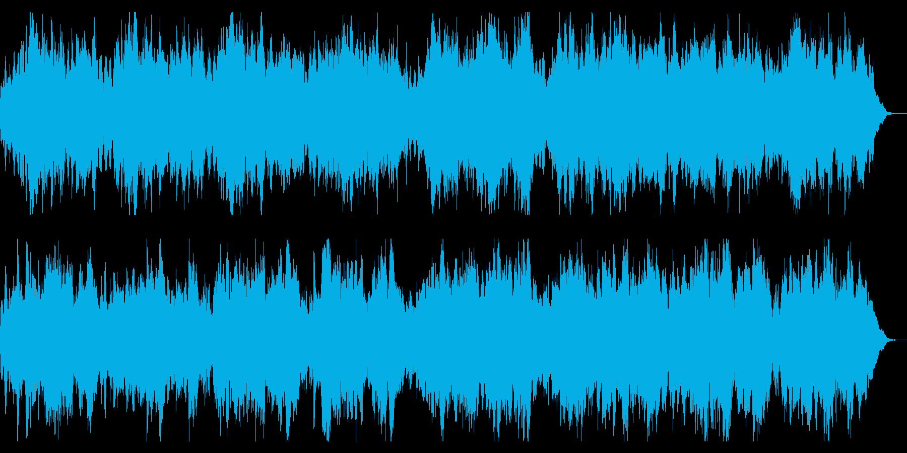 ダークで緩やかなBGM 緊張感の演出の再生済みの波形