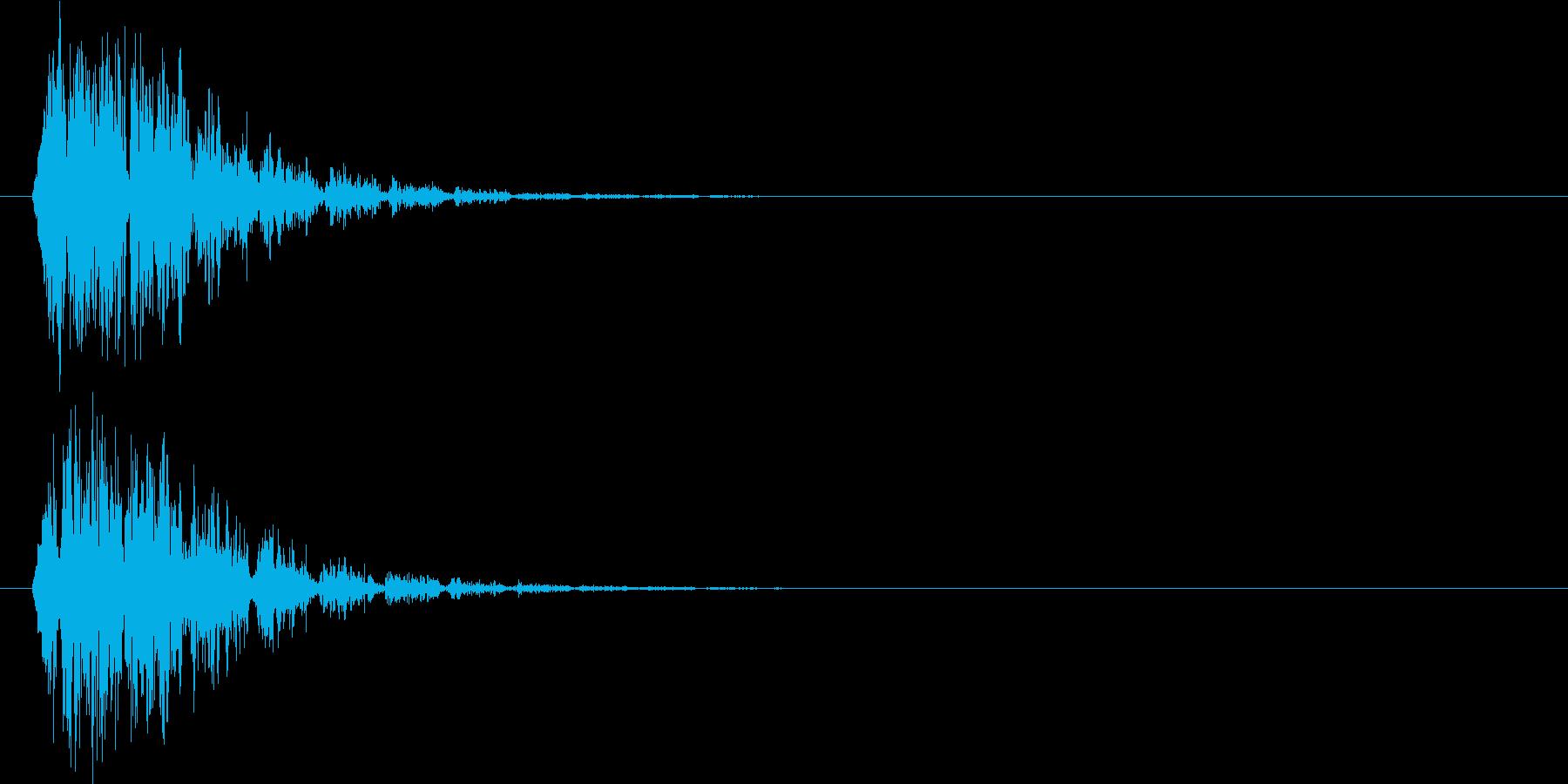 ドカーン(機械的衝撃波)の再生済みの波形