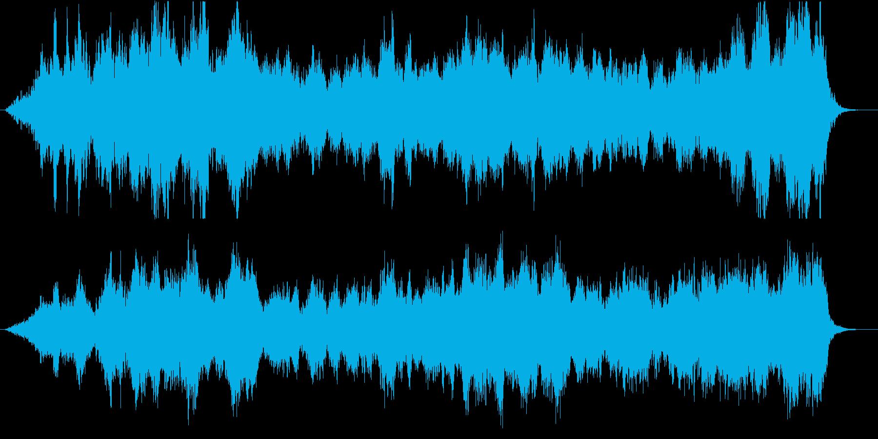壮大なオーケストラのオープニング楽曲の再生済みの波形