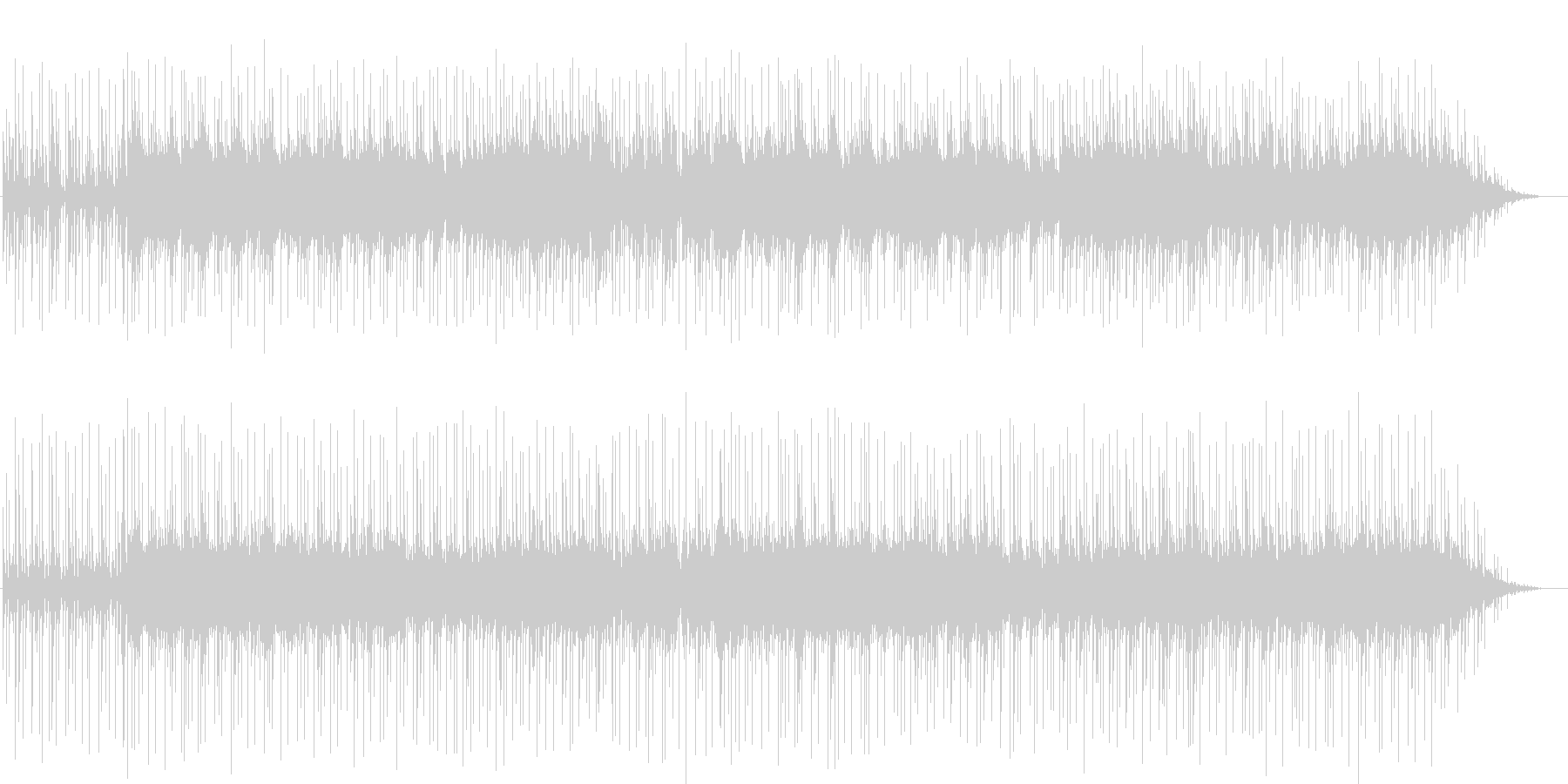 エレキギターがかっこいいクロスオーバーの未再生の波形