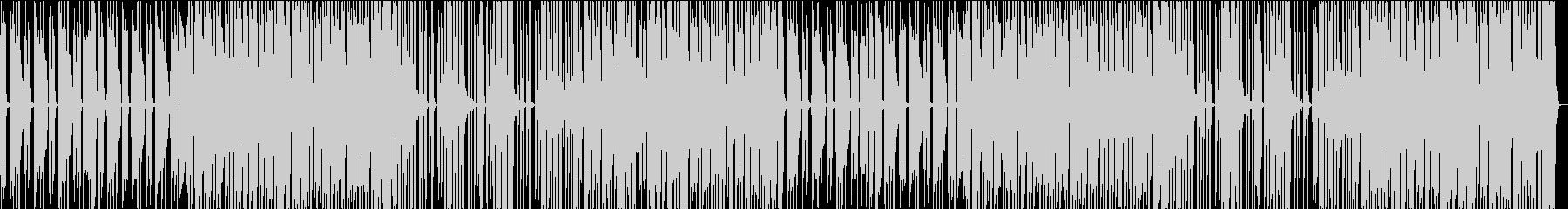 少し間の抜けたようなサウンドのBGMの未再生の波形
