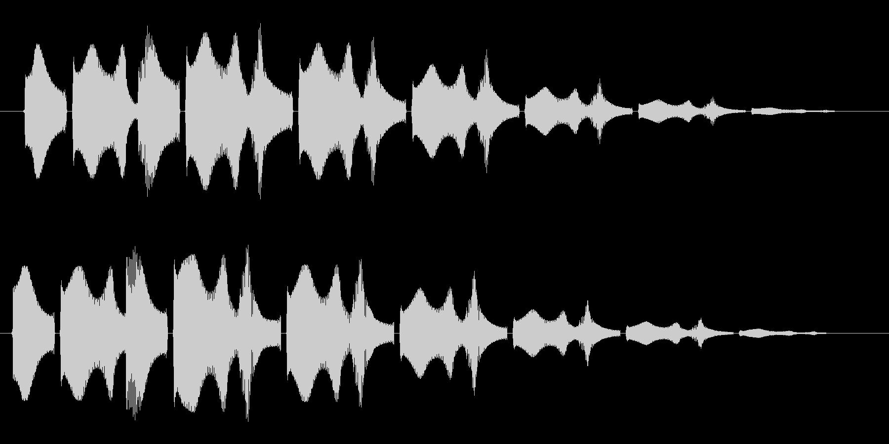 ワープするときに聞こえる音の未再生の波形