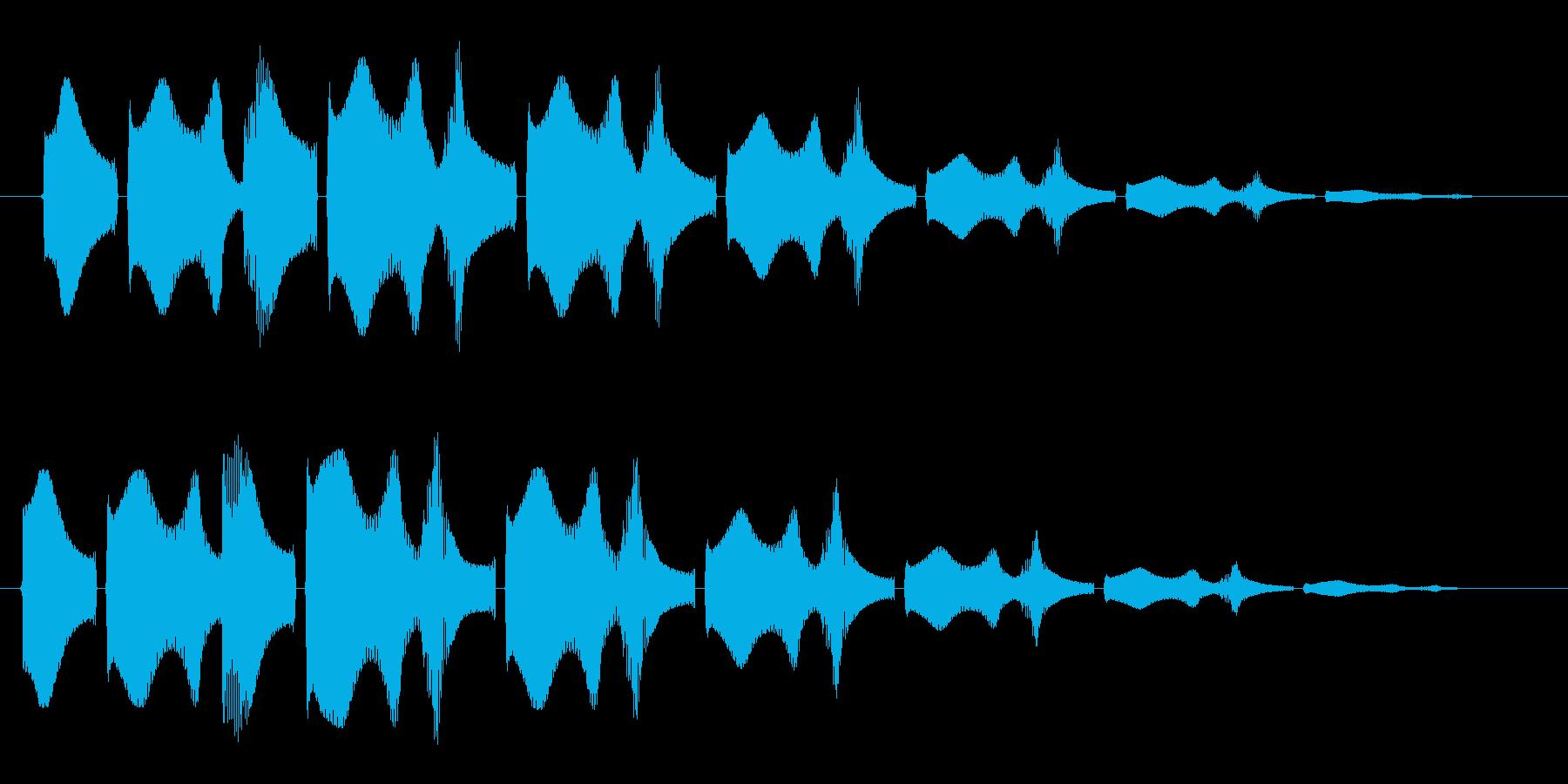 ワープするときに聞こえる音の再生済みの波形