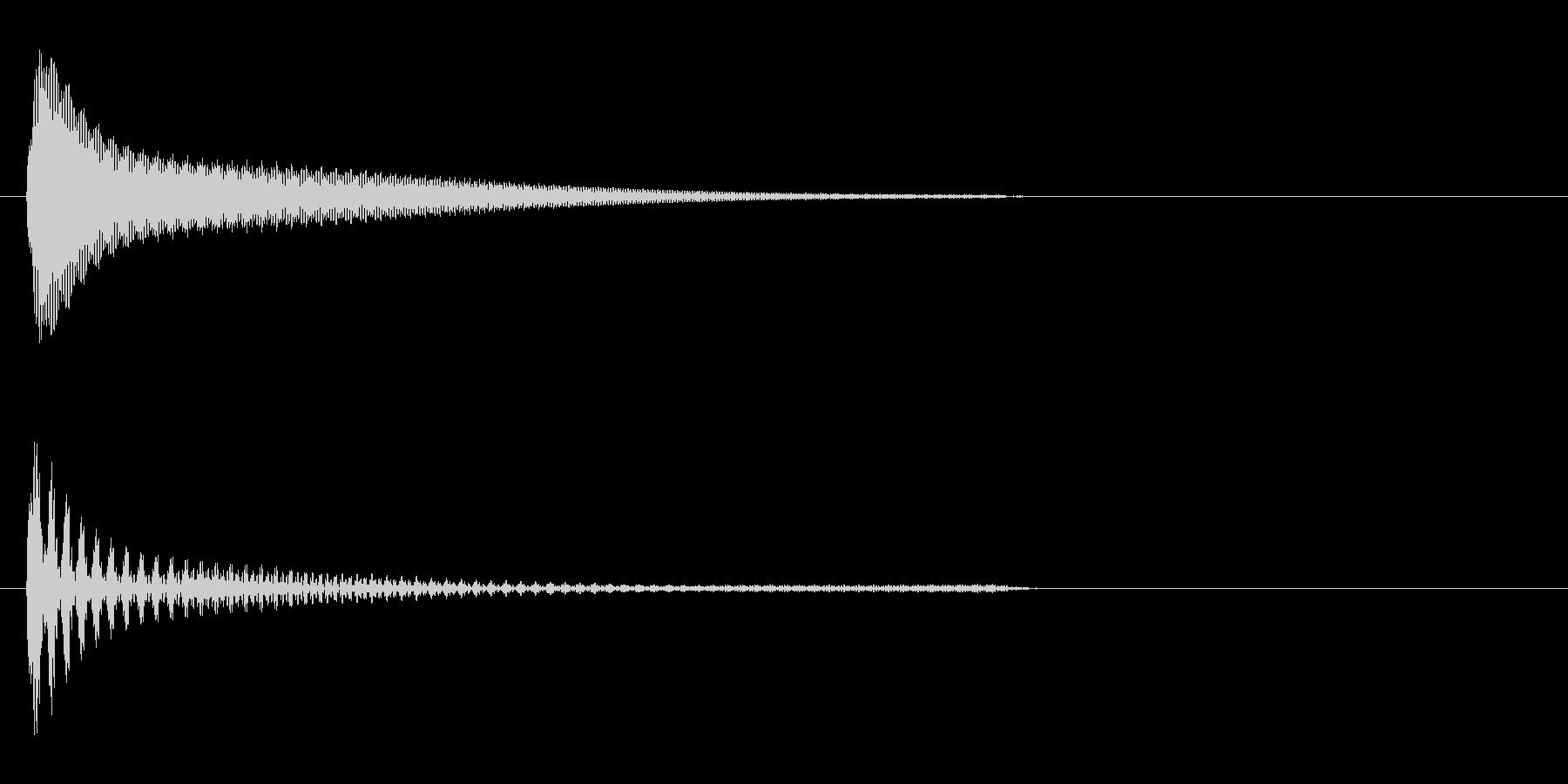 アクセス音(機械)の未再生の波形