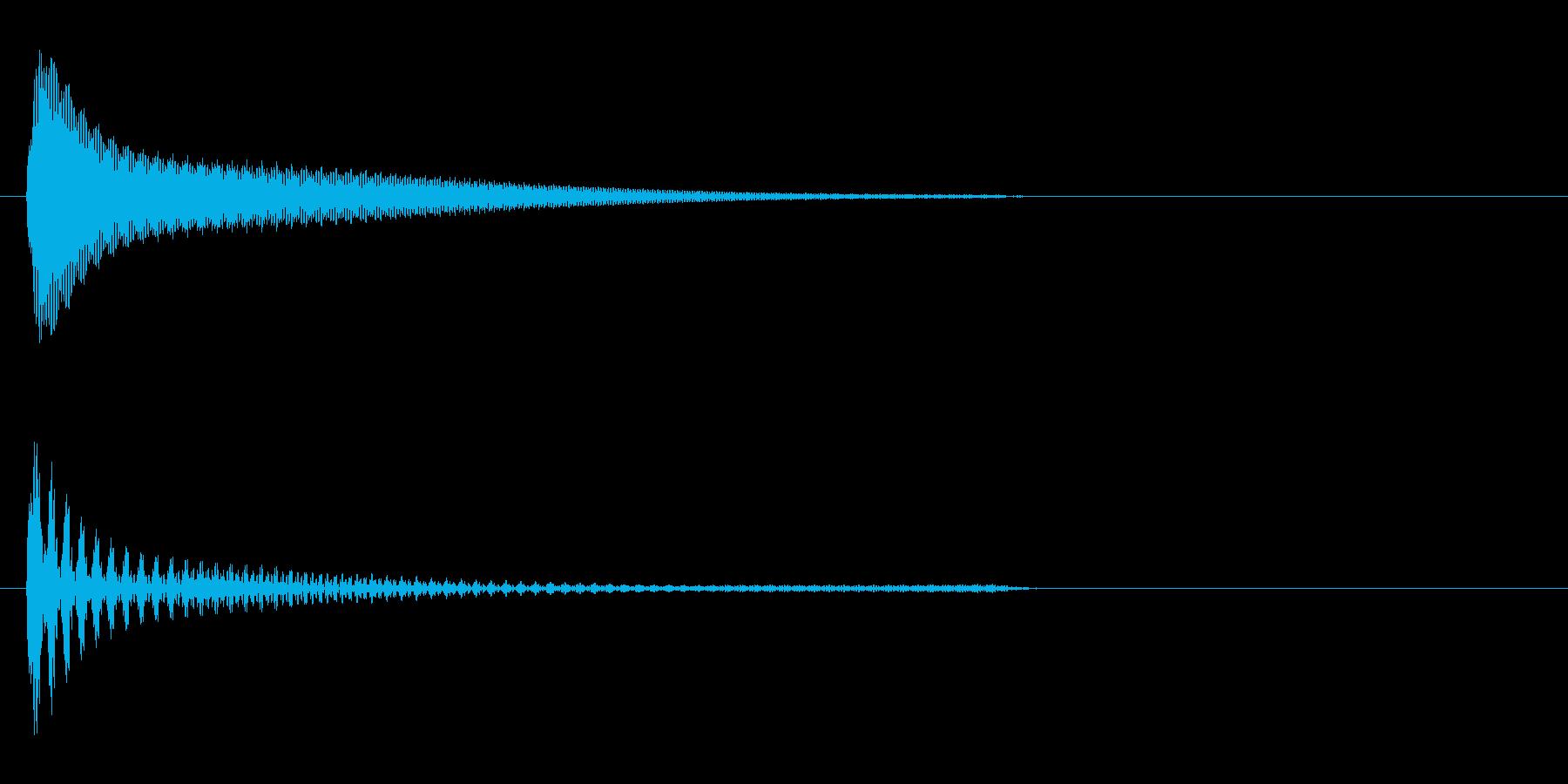 アクセス音(機械)の再生済みの波形