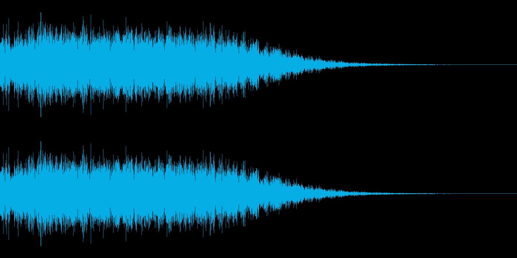電気系ビームを撃つ音(SF/宇宙/光線)の再生済みの波形