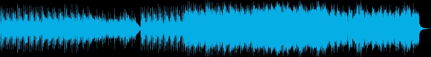 ふわふわしたピアノとチップチューンの再生済みの波形