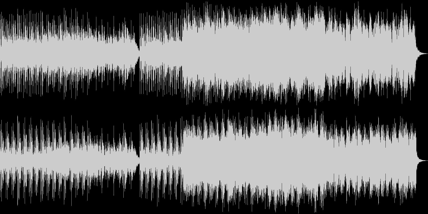 ふわふわしたピアノとチップチューンの未再生の波形