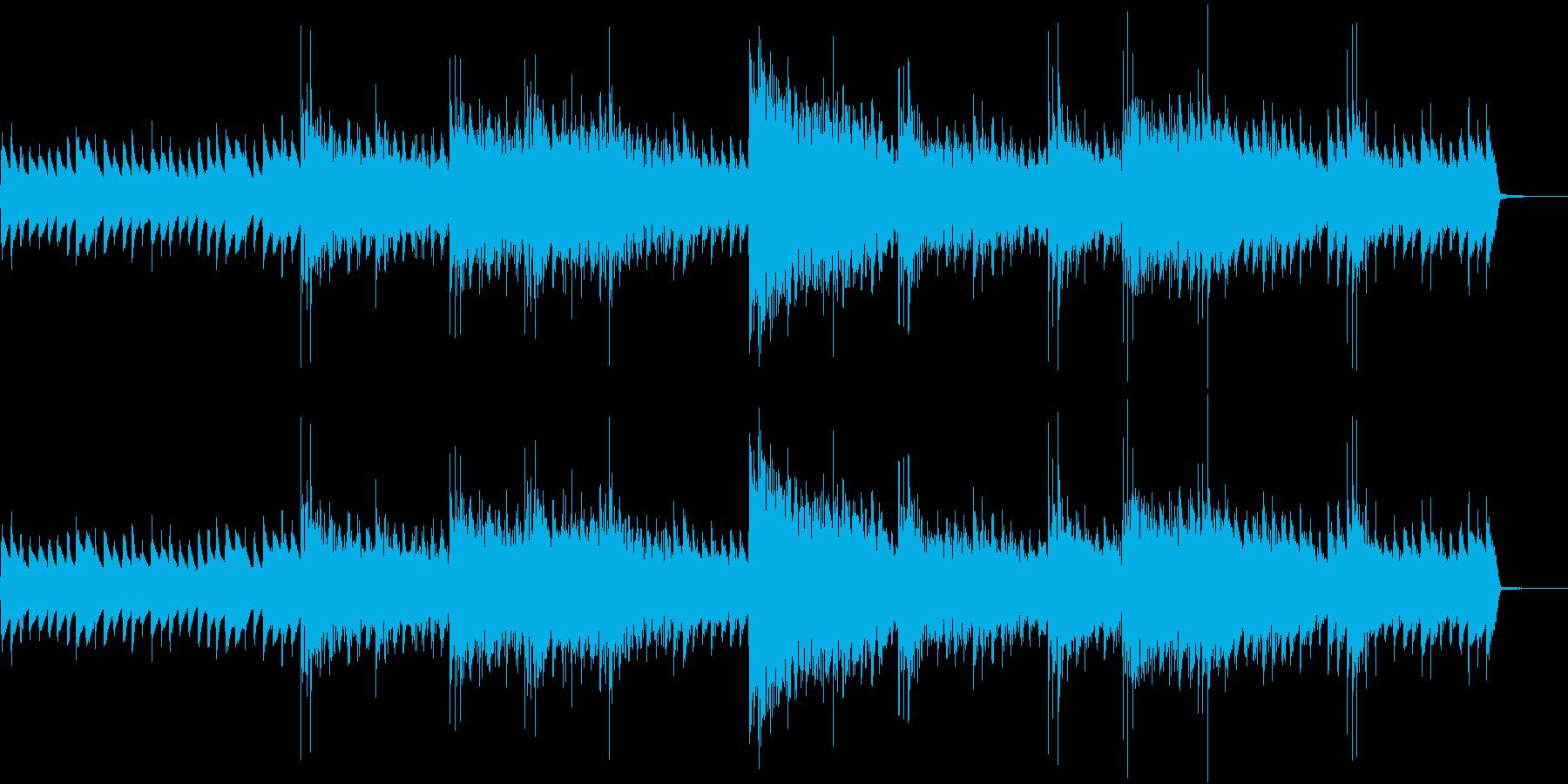 緊張感のあるイントロ付きループBGMの再生済みの波形