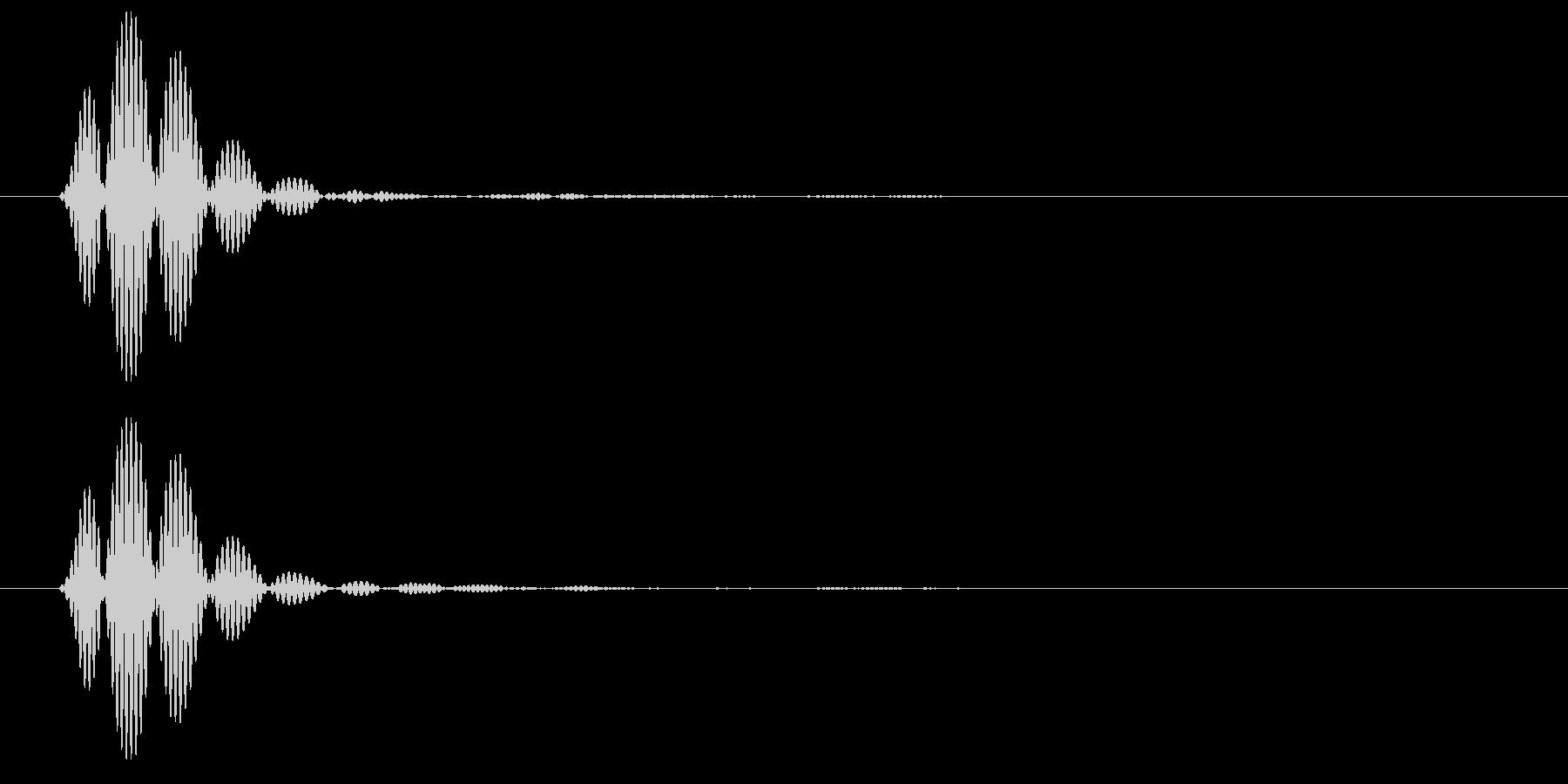 短く濁った音(ポッ)の未再生の波形