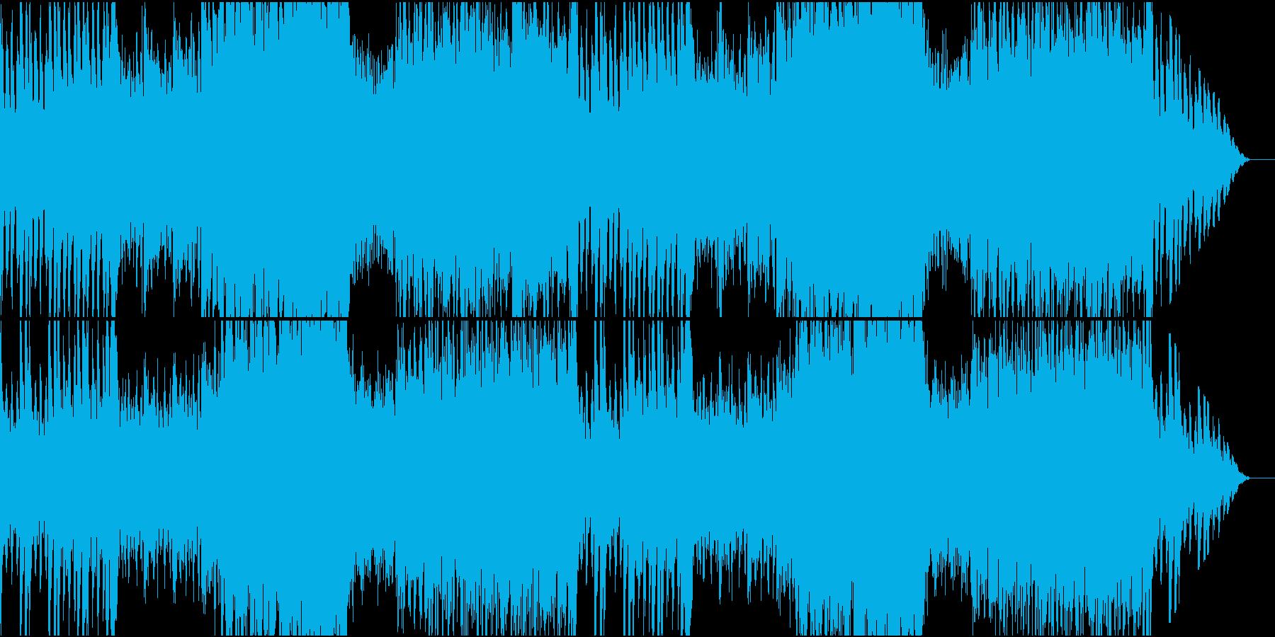 オーケストラ素材のバトル曲の再生済みの波形