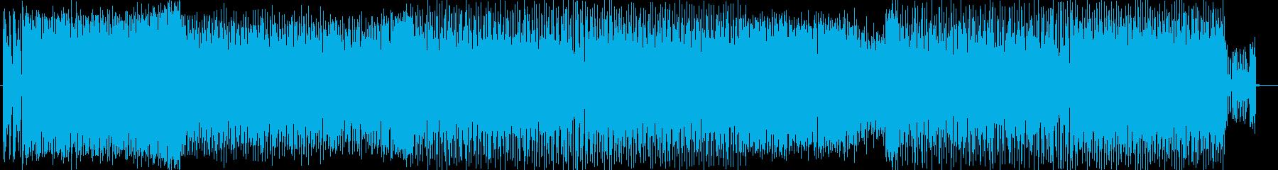 スピーディーで近未来なユーロビートの再生済みの波形