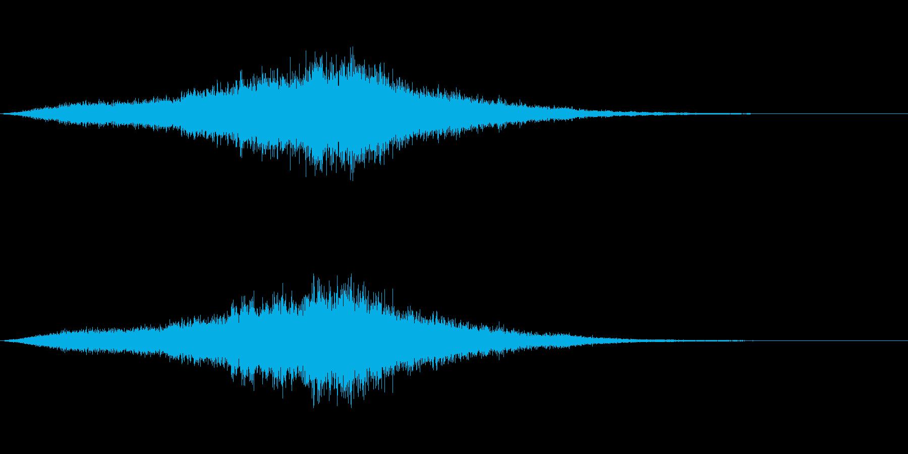 映画向け効果音18の再生済みの波形