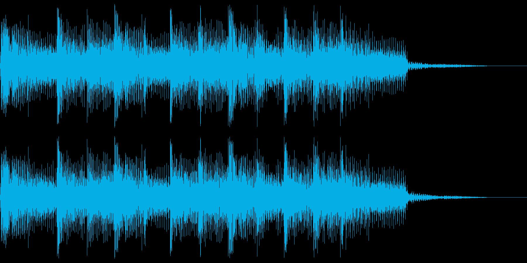 3ピースサウンドのジングルの再生済みの波形