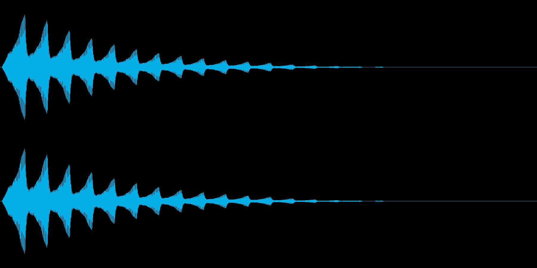 ソナー音のような電子音です。ゲームに使…の再生済みの波形