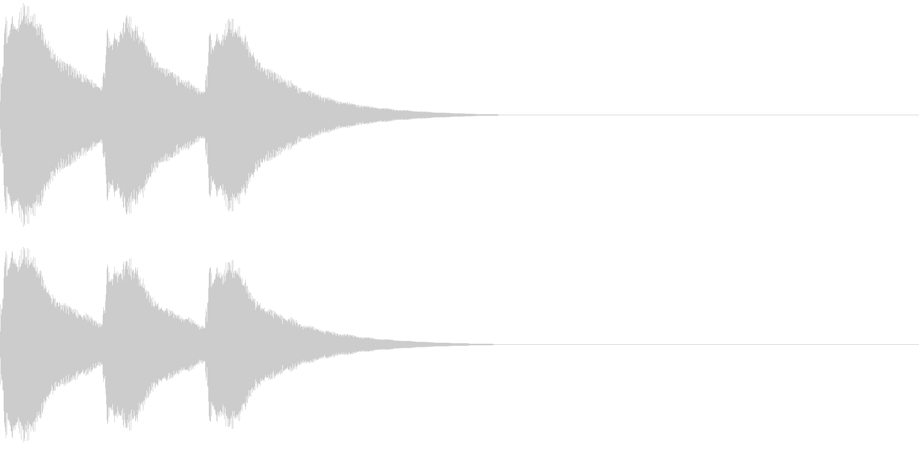 カンカンカーン プロレスゴングの音の未再生の波形