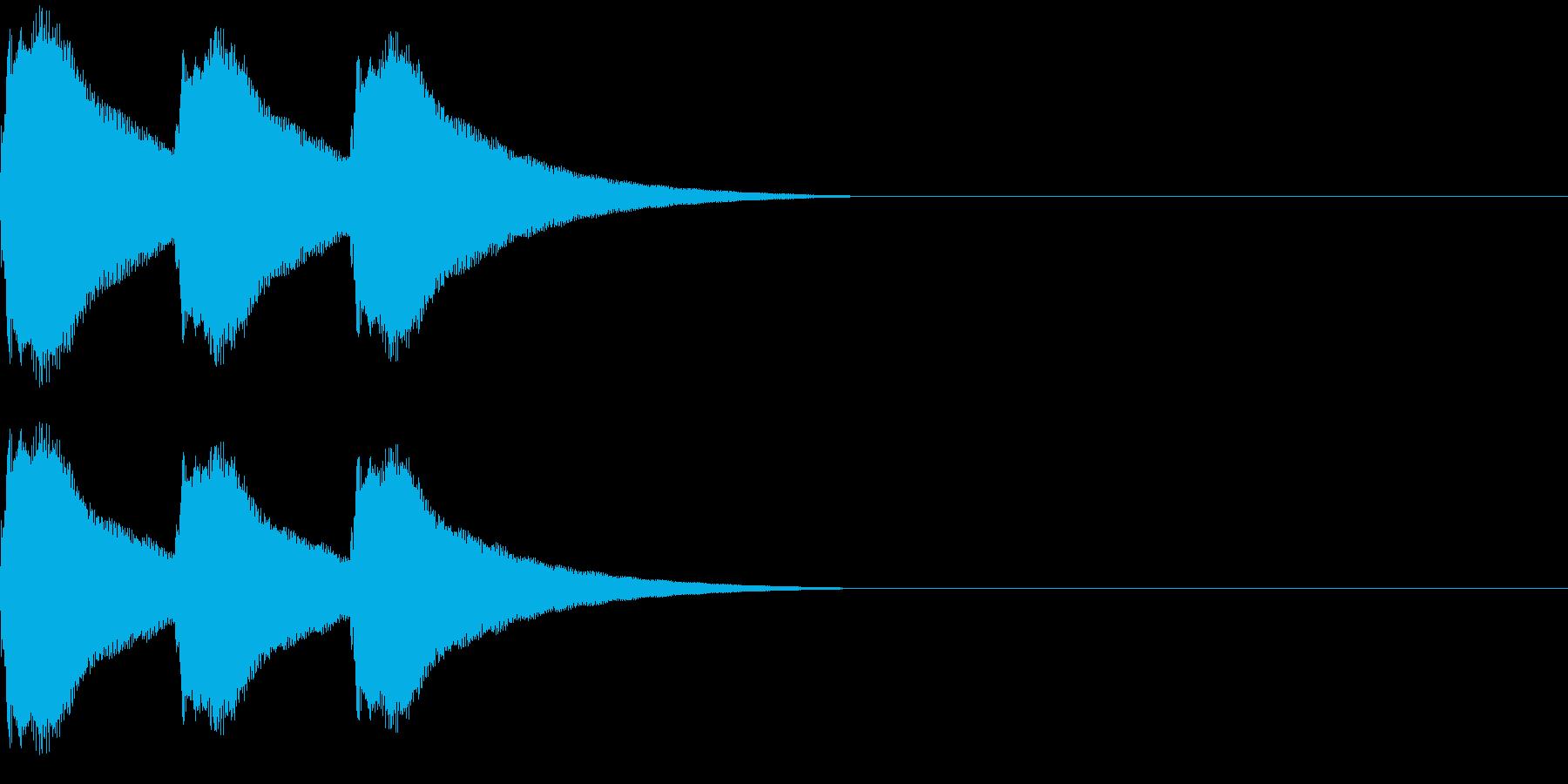 カンカンカーン プロレスゴングの音の再生済みの波形