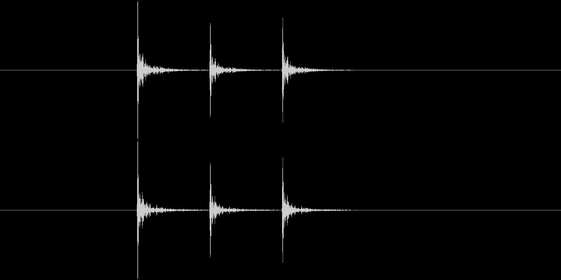 コンコンコン、ドアノック音(3回)の未再生の波形
