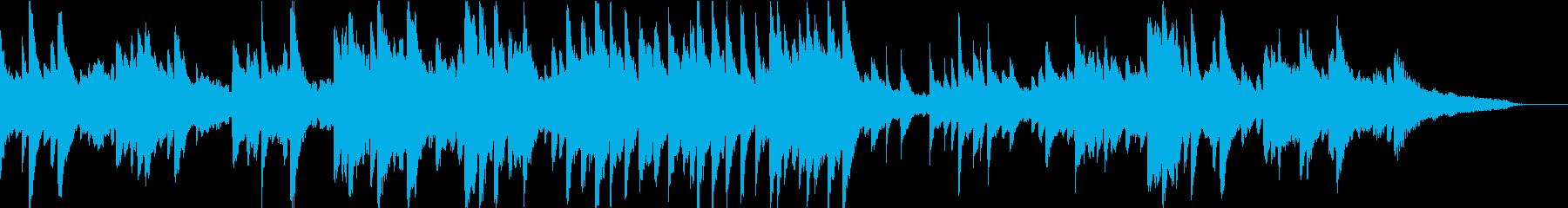ピアノとフルートの昼休みっぽい音楽の再生済みの波形