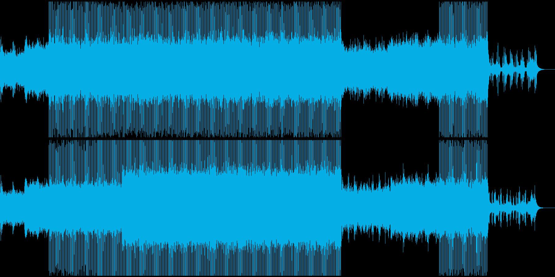 スペイシーな雰囲気のステディなテクノの再生済みの波形