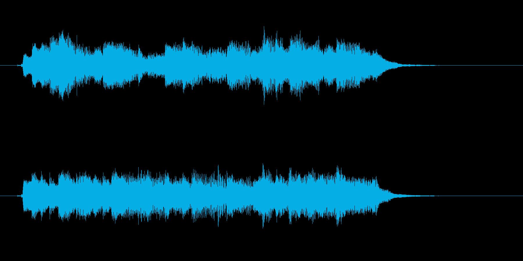 ジングル・キラキラ・綺麗・コーナーの再生済みの波形