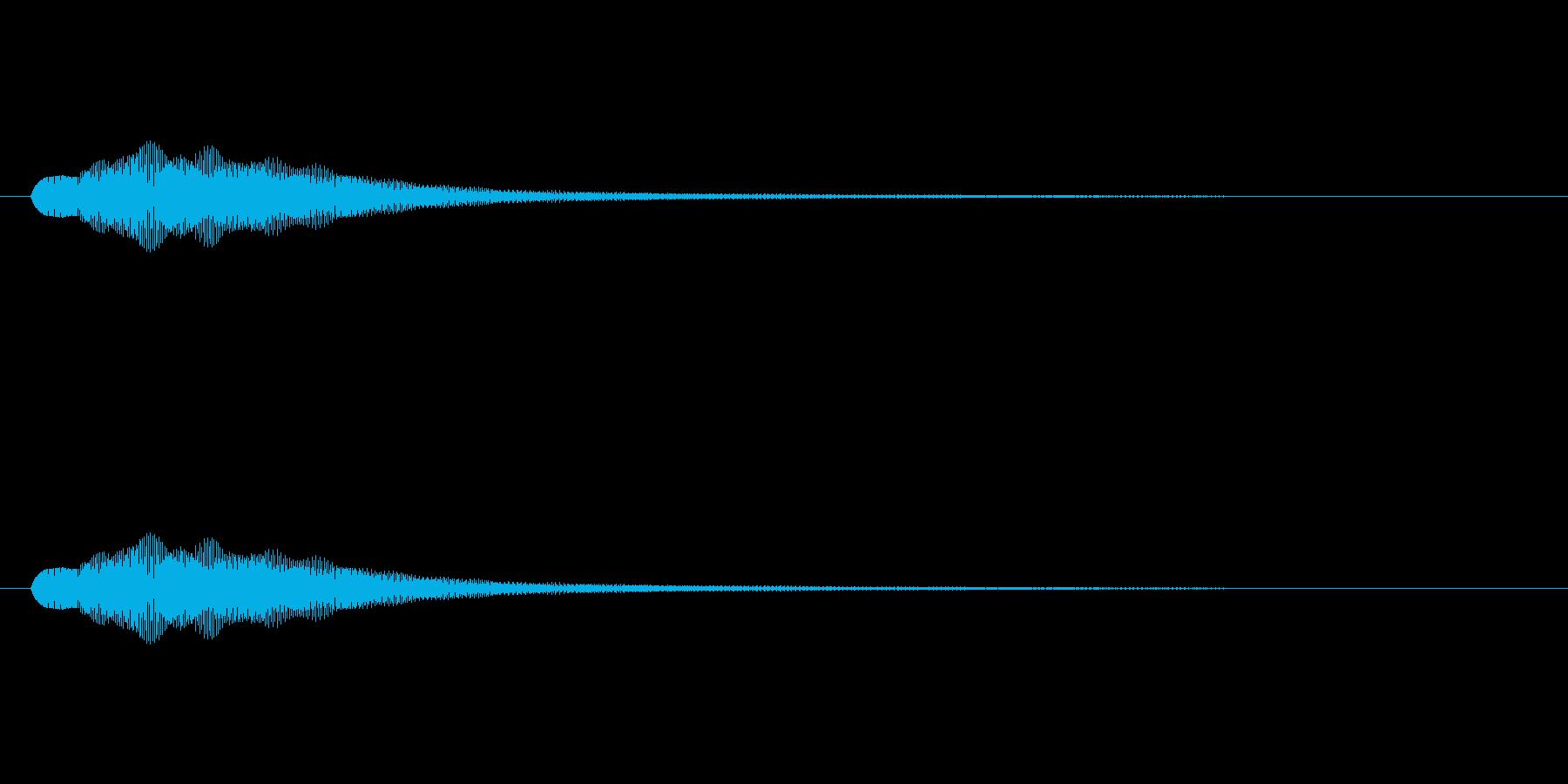 ゲーム向けアイテムゲット音。決定音にも…の再生済みの波形
