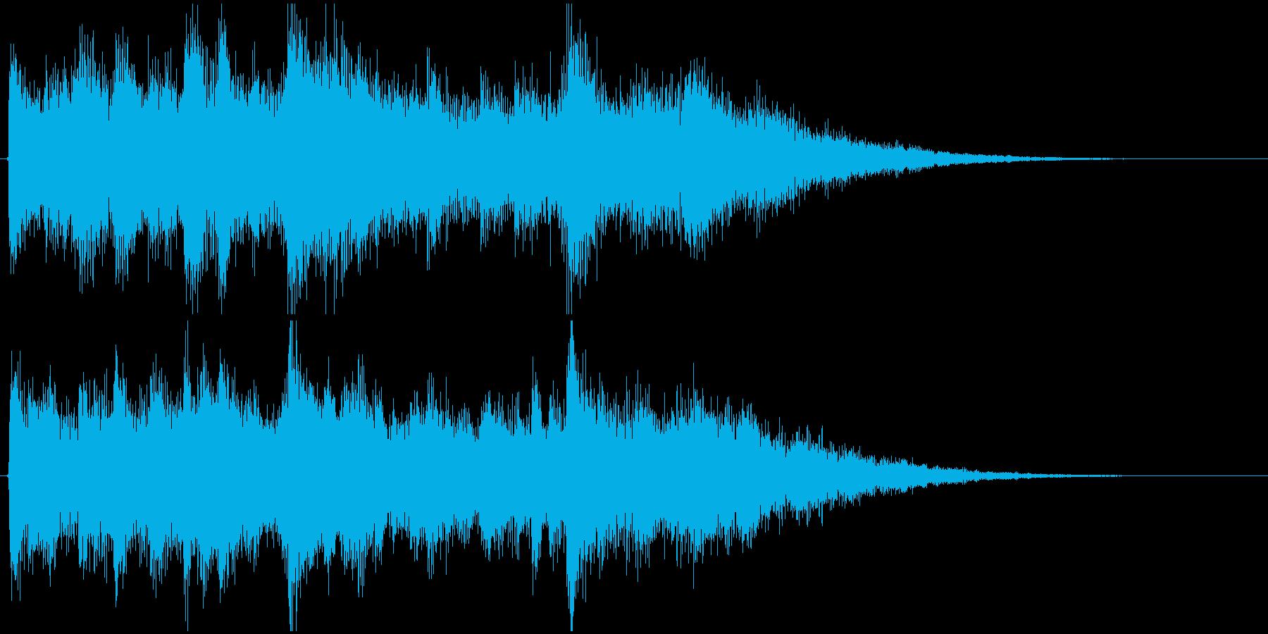 ラジオジングル(さわやかな起動音風)の再生済みの波形