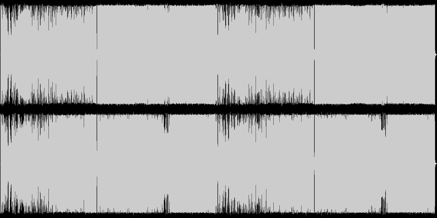 アコギ生演奏,EDM風,ロックの未再生の波形