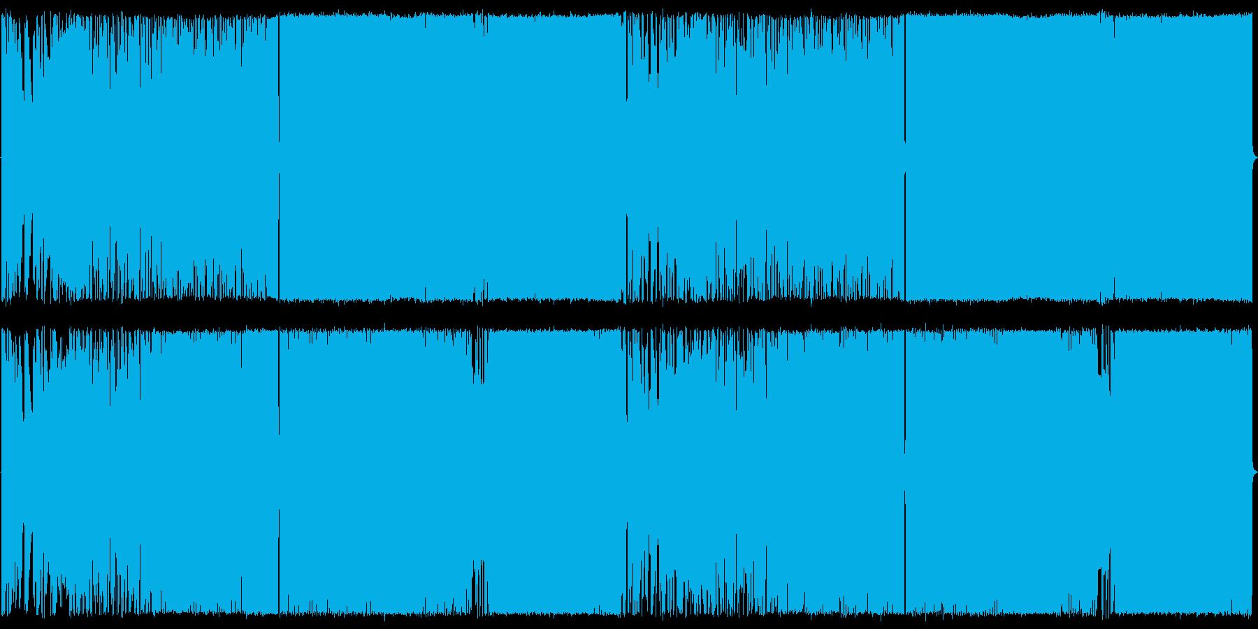 アコギ生演奏,EDM風,ロックの再生済みの波形