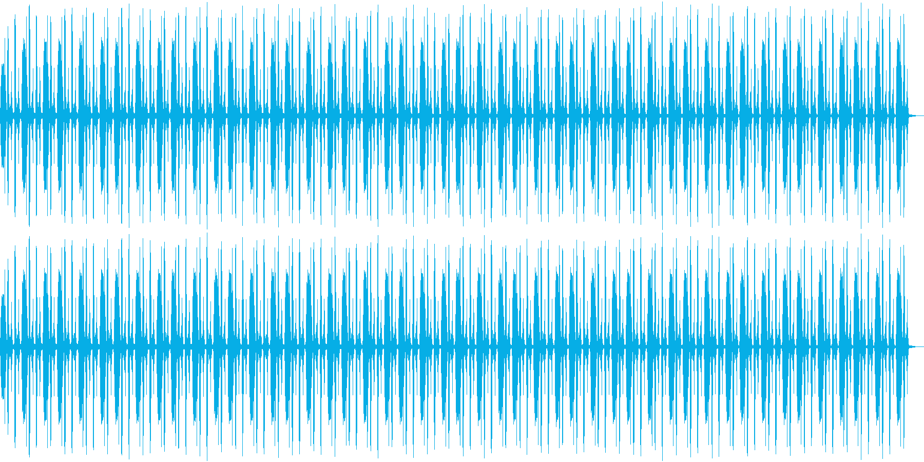 鳥の鳴き声リズムの再生済みの波形