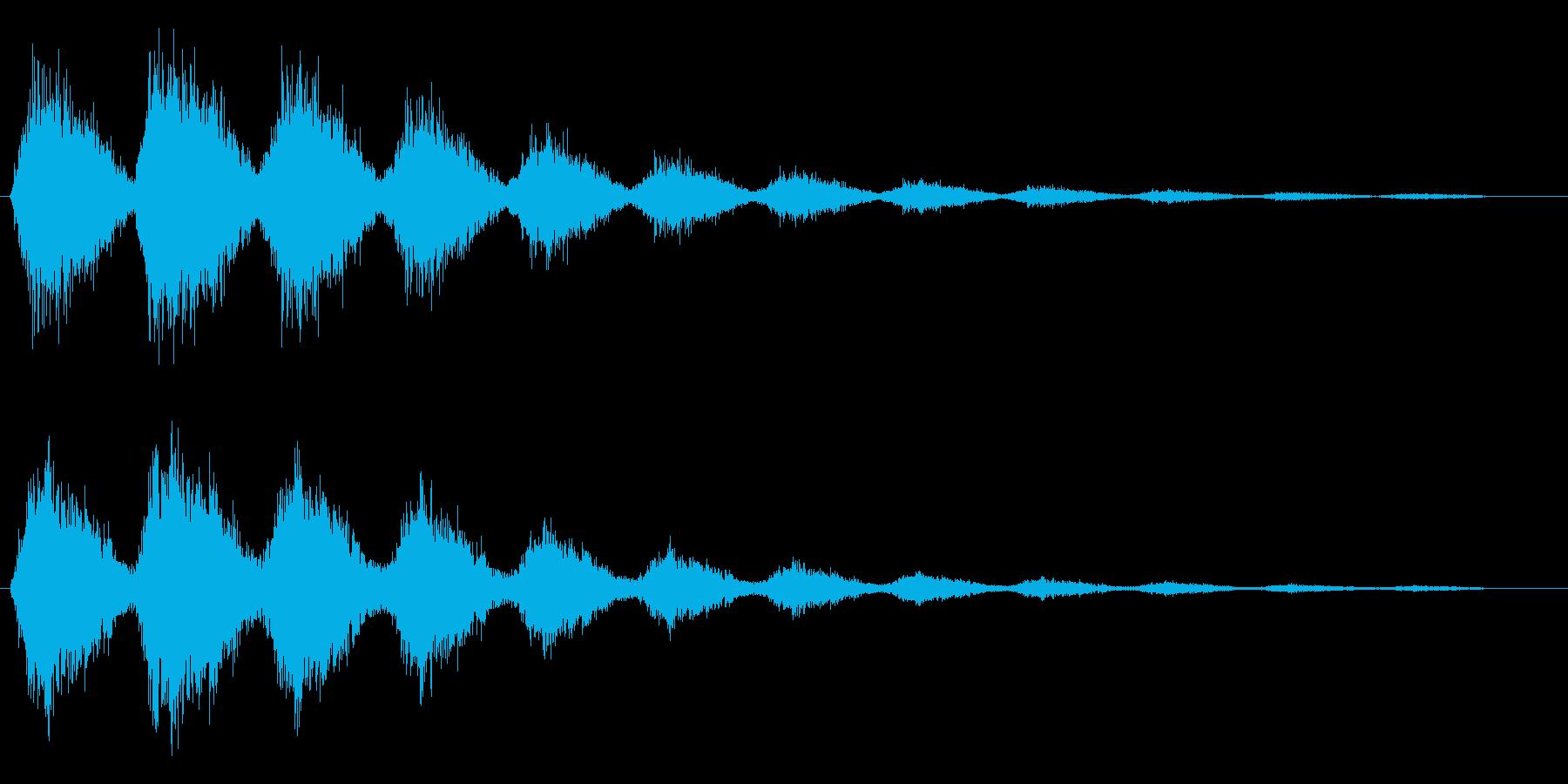 ピシャシャシャ(閃光が走った効果音)の再生済みの波形
