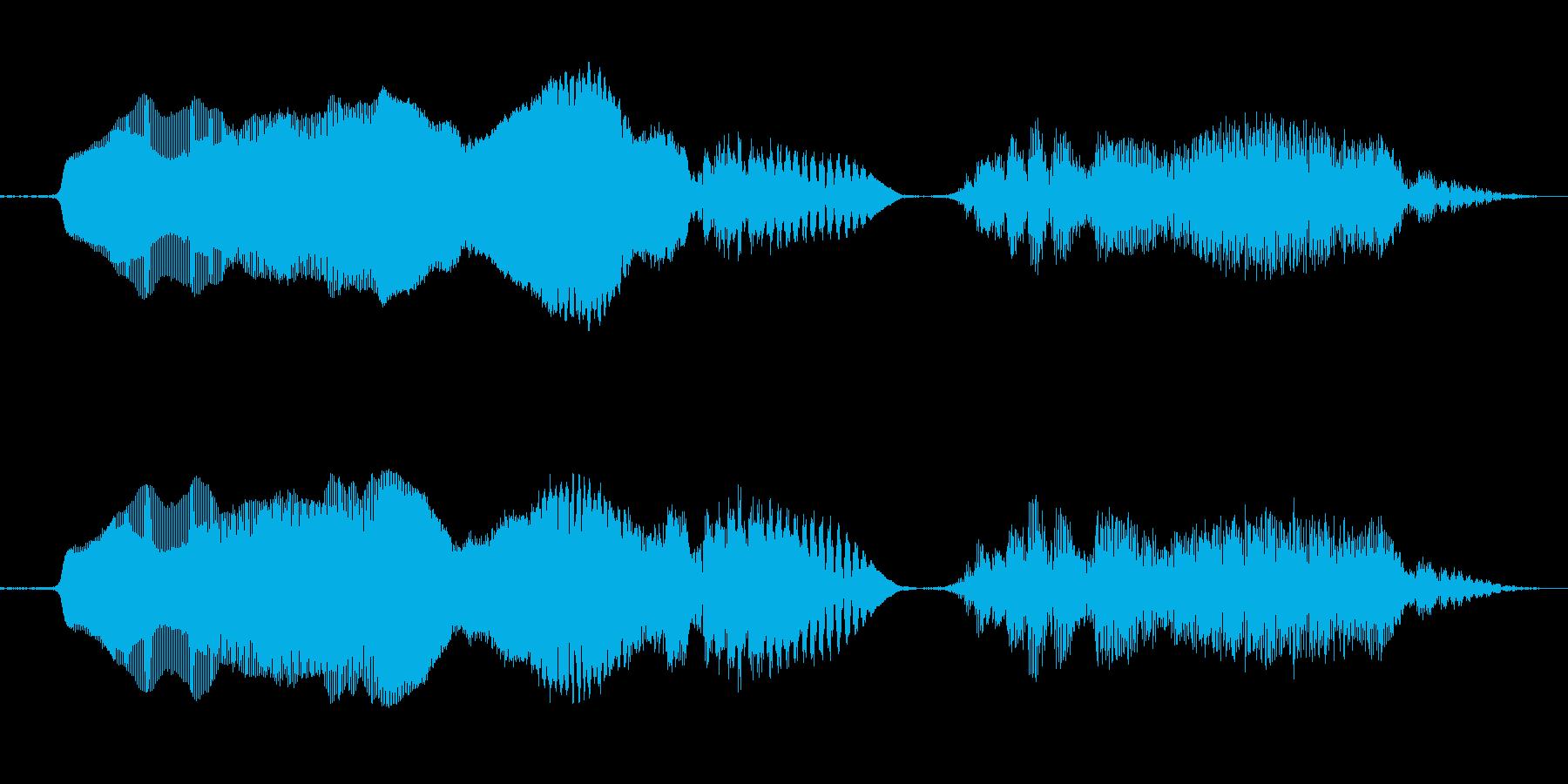 「きゃー!」の再生済みの波形