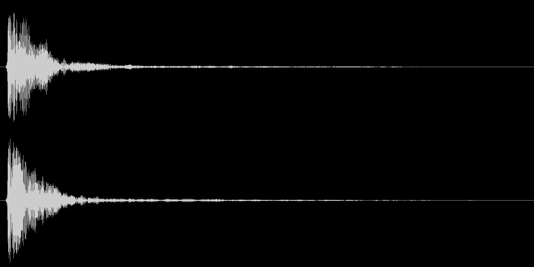 ポン!【鼓・リアル・和風・単発】の未再生の波形