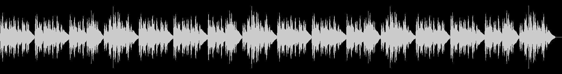「仰げば尊し」のバイオリンソロの未再生の波形