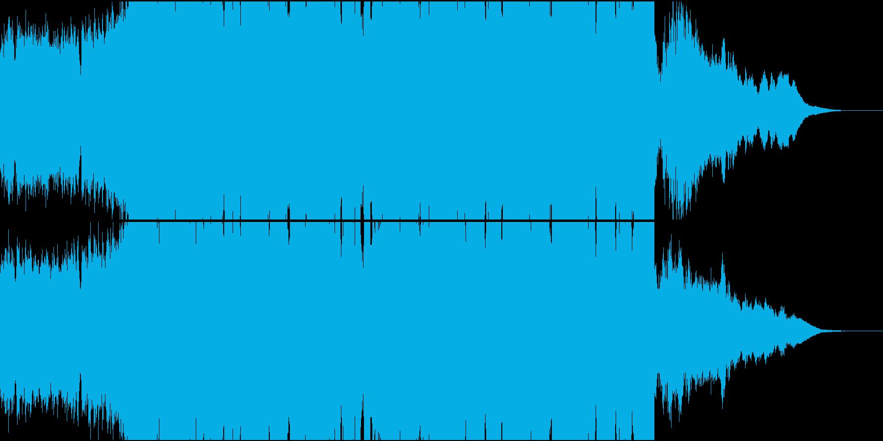 ロックなドラムンベースの再生済みの波形