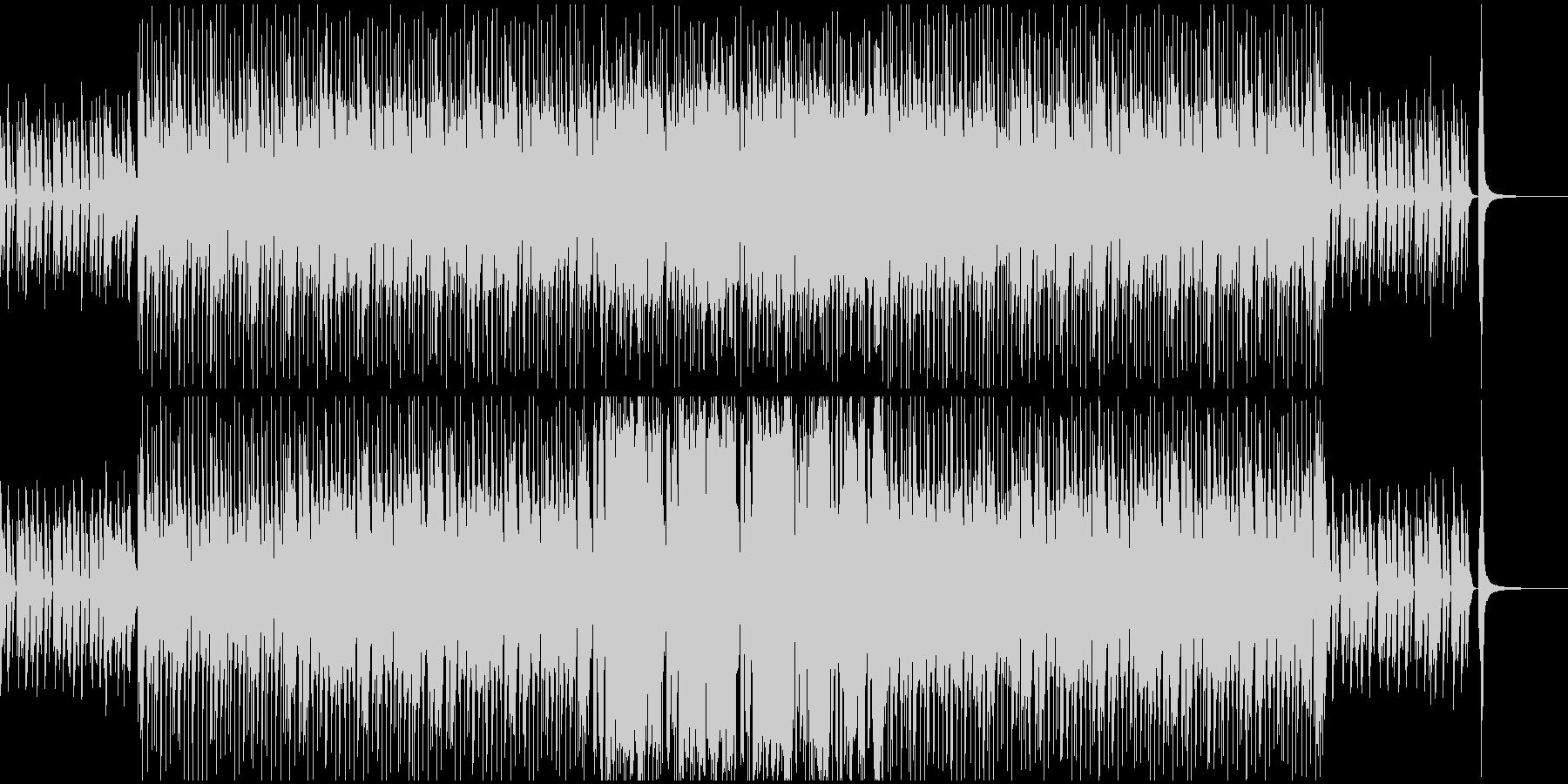 日常系の楽しげなBGMの未再生の波形