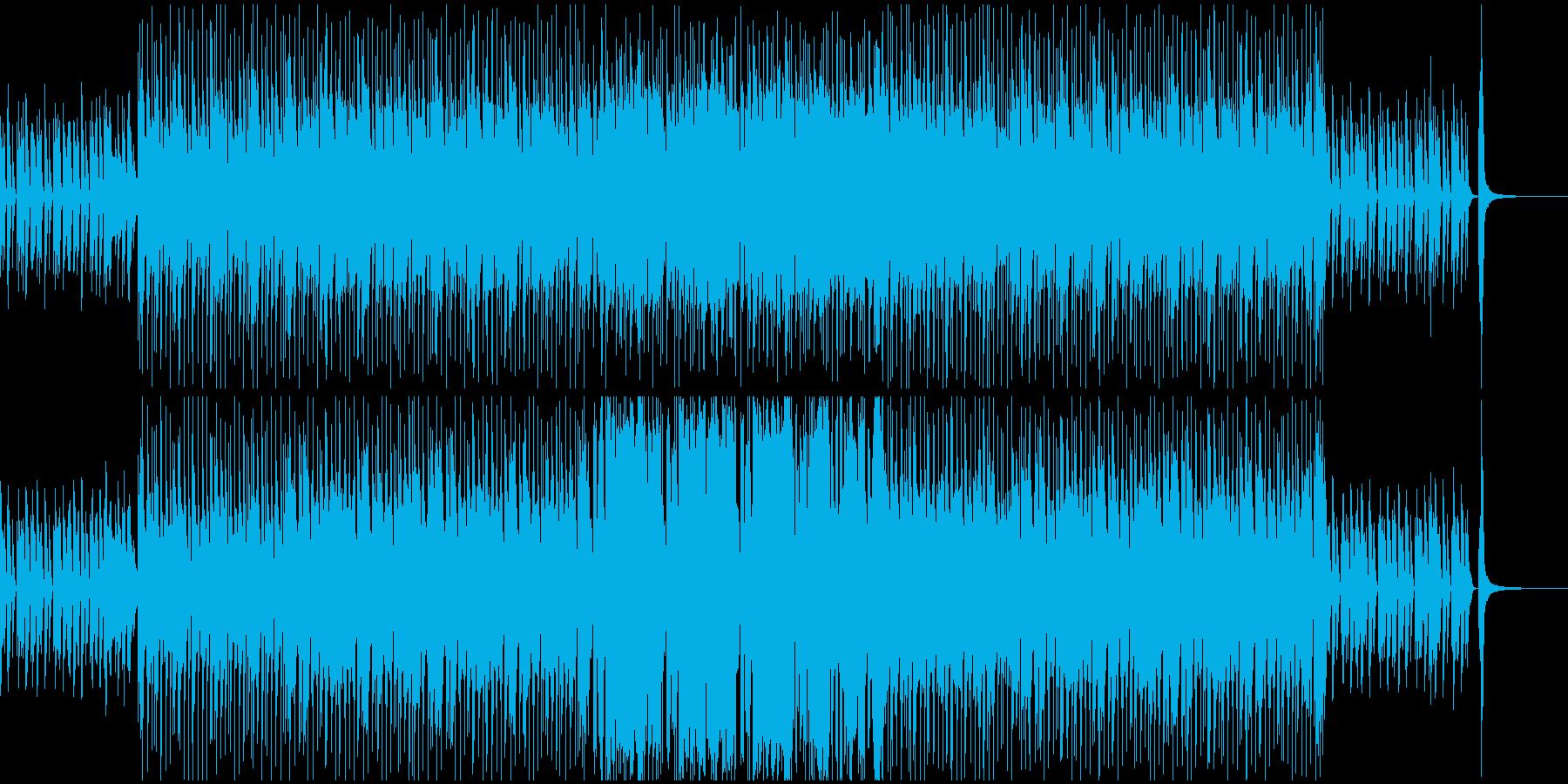 日常系の楽しげなBGMの再生済みの波形