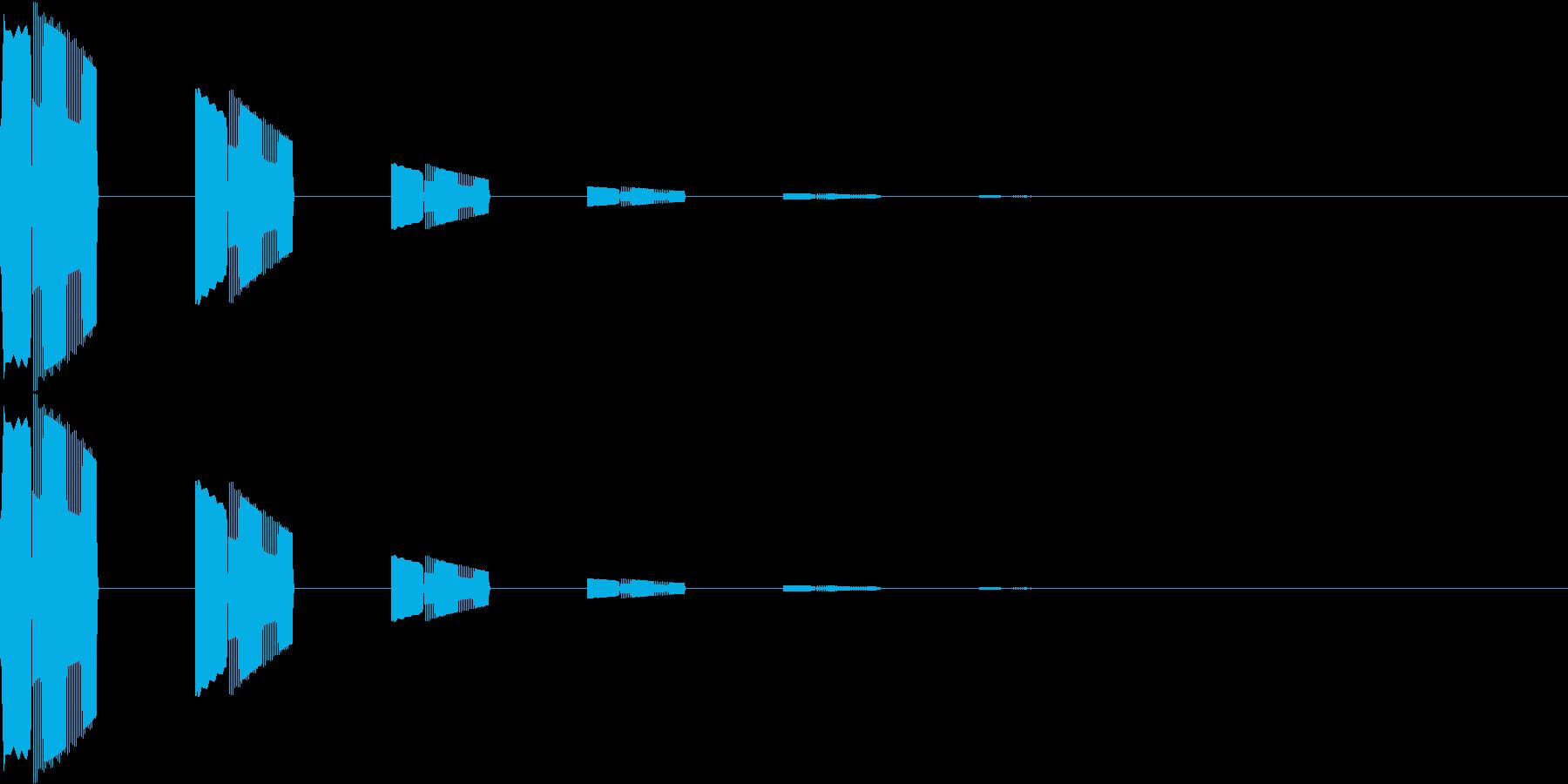 ボタン・カーソル・操作音 「ピロピロ…」の再生済みの波形